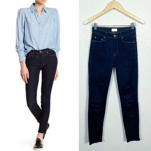MOTHER The Looker Ankle Fray Skinny Jeans Sz 24